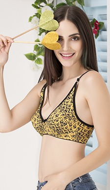Cotton Non-Padded Non-Wired Printed Full Cup Bra