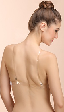 Cotton Bra with Transparent Straps & Back