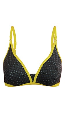 Cotton Plunge Neck Bra With Double Layered Cups