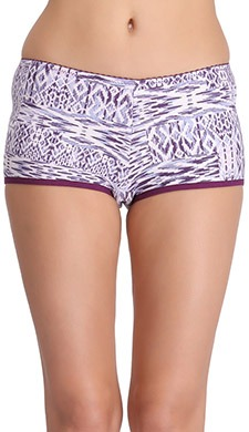 Cotton Printed Mid-Waist Boyshorts With Thin Waist Band
