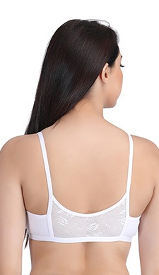 Cotton Rich Front Open Plunge Neck T-shirt Bra