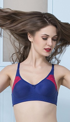 Cotton Rich Non-Padded Non-Wired Full Cup Bra