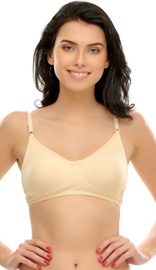 Cotton Rich Non-Padded Moulded T-shirt Bra In Nude
