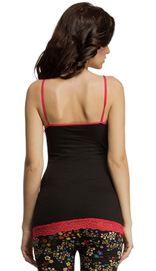 Cotton Spandex Camisole In Black