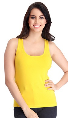 Stretchable Cotton Tank Top with Racerback