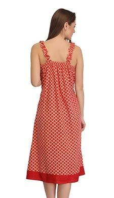 Crepe Printed Beach Dress