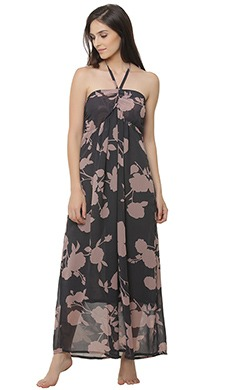 Floral Print Halter Neck Maxi Beachdress