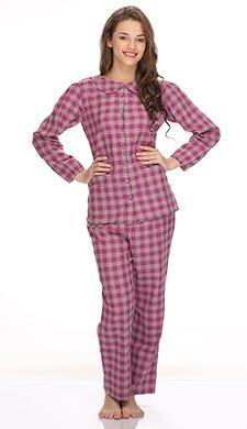 Cotts Wool Pyjama Set In Plaid