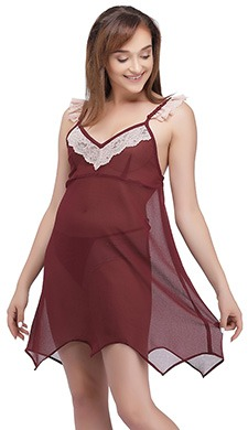 Georgette Babydoll with Satin Thong