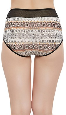 High Waist Printed Hipster Panty