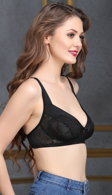 Lace Non-Padded Non-Wired Balconette Bra