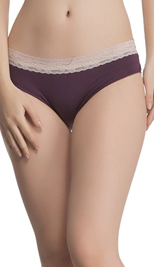 Lacy Cotton Hipster In Grape Wine