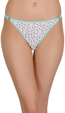 Low Waist Printed Cotton Thong