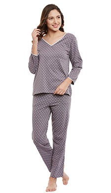 Cotton Printed Top & Pyjama Set