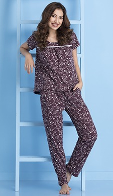 Printed Top & Pyjama Set