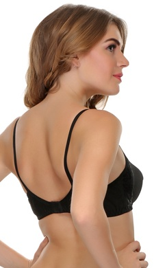 Non Padded Wirefree Cotton Rich Bra In Black