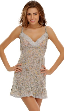 Floral Short Nightdress In Soft Cotton