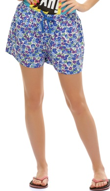 Chic Printed Short In Blue