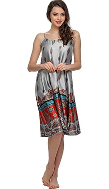 Lovely Beach Dress In Ethnic Print