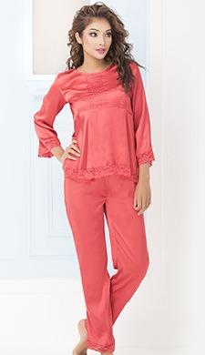 Satin Top & Pyjama Set