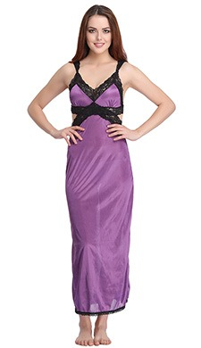 Satin Nighty with a Stylised Back