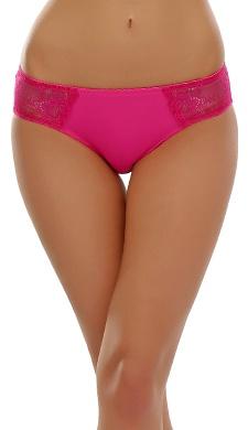 Lacy Spandex Bikini Panty In Hot Pink
