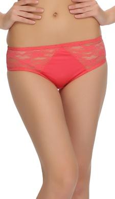 Reddish Pink Lacy Bikini