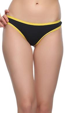 Bikini In Black With Yellow Highlight