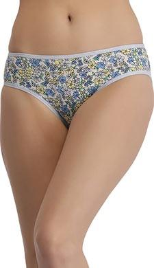 Cotton Mid Waist Floral Print Bikini