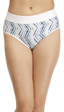 Cotton High Waist Printed Bikini