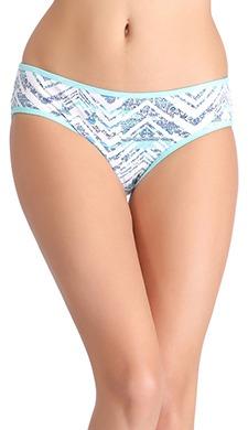 Cotton Mid Waist Printed Bikini - 48473