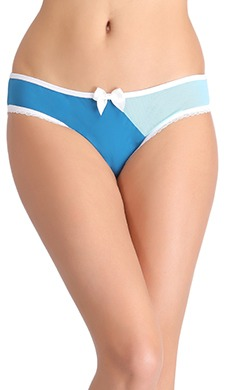 Colourblocked Mid Waist Bikini with Bow