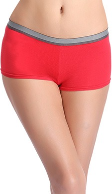 Cotton Low Waist Boyshorts With Contrast Waistband - 51890