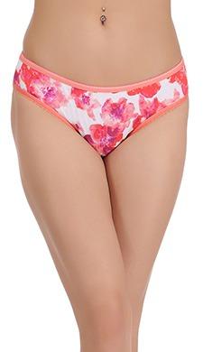 Cotton Floral Print Mid Waist Bikini Panty