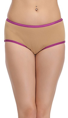 Mid Waist Hipster Panty With Contrast Trims