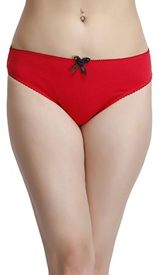 Cotton Low Waist Bikini Panty With Bow Detail