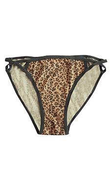Low Waist Animal Print Bikini Panty With Crisscross Sides