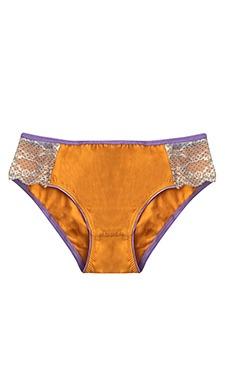 Cotton Mid Waist Bikini With Lace Wings