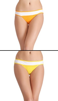 Set Of 2 Low Waist Cotton Bikinis