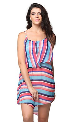 Printed Beach Dress - Pink