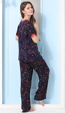 Summer Cool Printed Top & Pyjama Set