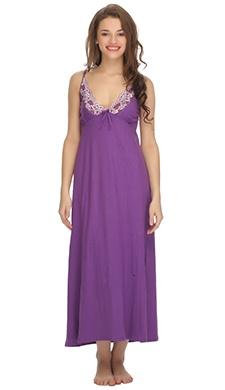 Purple Cute Knitted Nightdress