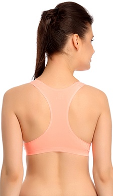 Padded Polyamide Sports Bra in Orange