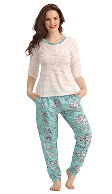 Set Of Top & Printed Pyjama