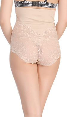 Laser-Cut No-Panty Lines Tummy Tucking Panty