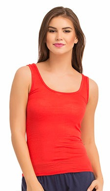 Round Neck Camisole - Red