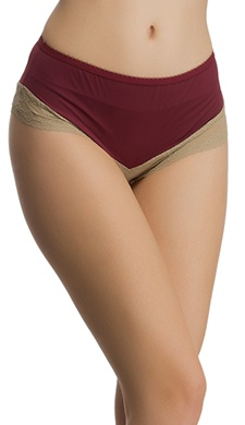 Soft Polyamide Lacy Panty In Maroon
