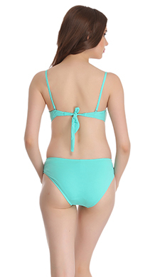 Soft Polyamide Monokini Swimsuit In light Green