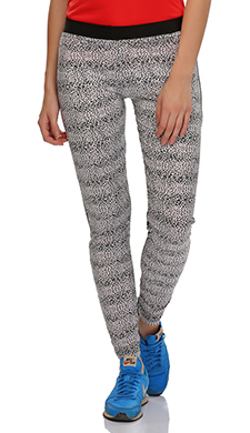 Stretchy High Rise Tights In Animal Prints