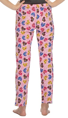Cotton Sweetheart Printed Pyjama In Light Pink